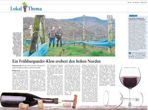 Artikel der Rhein-Zeitung vom Mittwoch, 06.04.2016