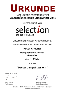 Selection bester Jungwinzer Ahr